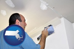 massachusetts a contractor spackling drywall