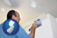 new-jersey a contractor spackling drywall